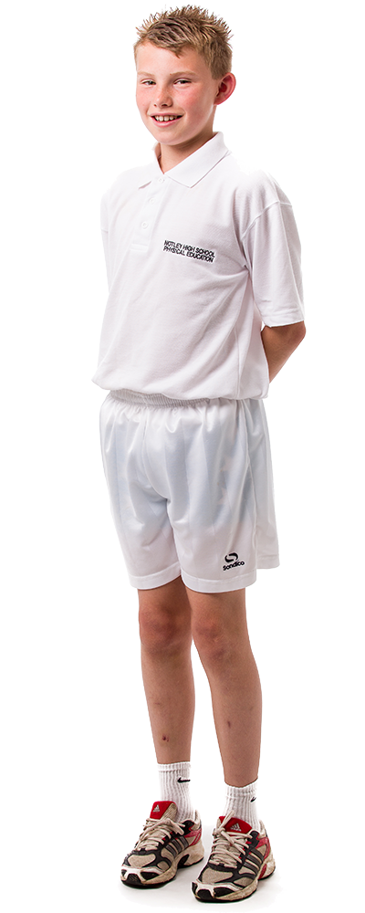 Uniform PE Male (White Top)