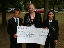 Year 8 raised over £700 for PARC
