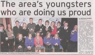 The area's youngsters who are doing us proud