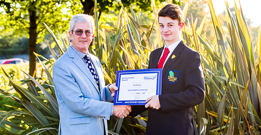 Ross Dawson - Jack Petchey Award Winner Oct 2015