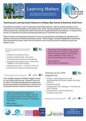 Learning Matters: Issue 13 - December 2014