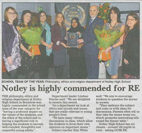 Notley is Highly Commended for RE