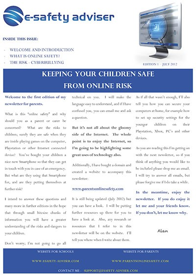 Parents' Online Safety Newletter Edition 1