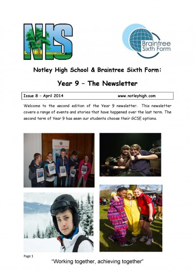 Year 9 Newsletter - Issue 8