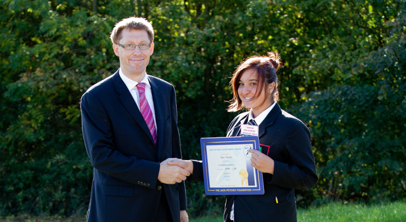 Jack Petchey Achievement Award Winner : October 2011