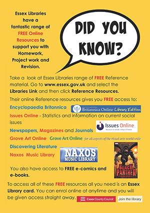 Essex Libraries Learning Resources