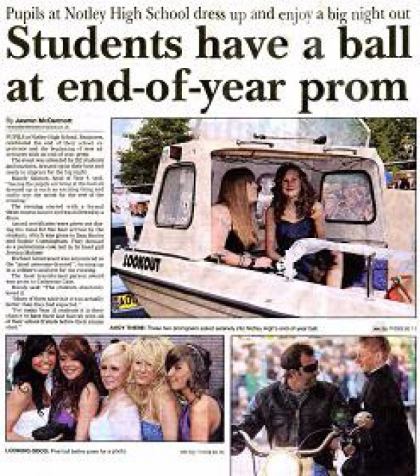 Students have a ball at end-of-year prom