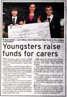 Youngsters Raise Funds for Carers
