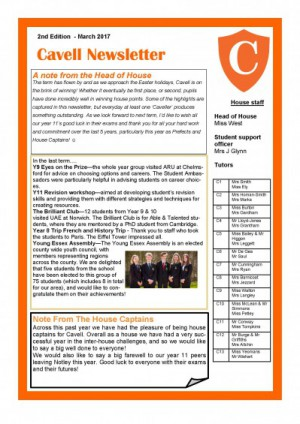Cavell Newsletter March 2017