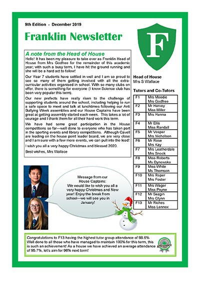 Franklin Newsletter - December 2019