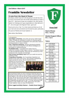 Franklin Newsletter March 2017