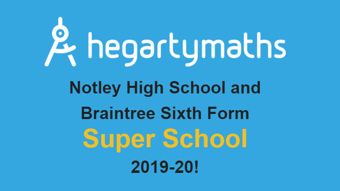 Maths & Computing Faculty: Super School Status by Hegarty Maths
