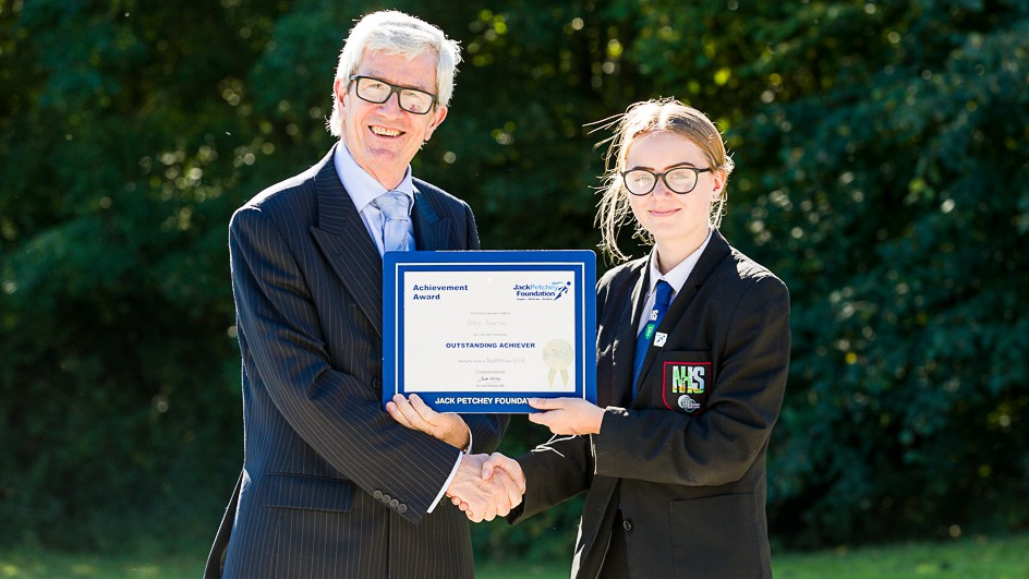 Amy Fenton – Jack Petchey Award Winner September 2018