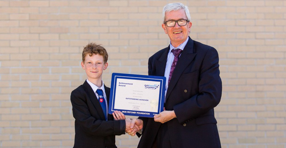 Alfie Blayney - Jack Petchey Award Winner June 2018
