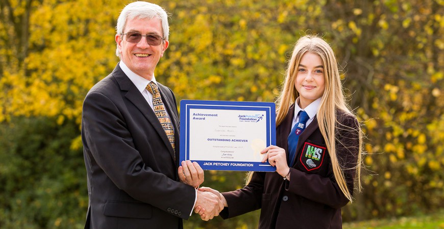 Gabriella Howes - Jack Petchey Winner Nov 2017