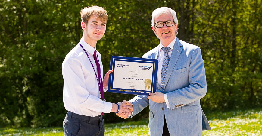 Edward Leggett - Jack Petchey Award Winner April 2018