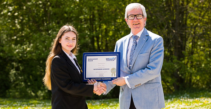 Lauren Turley - Jack Petchey Award Winner March 2018