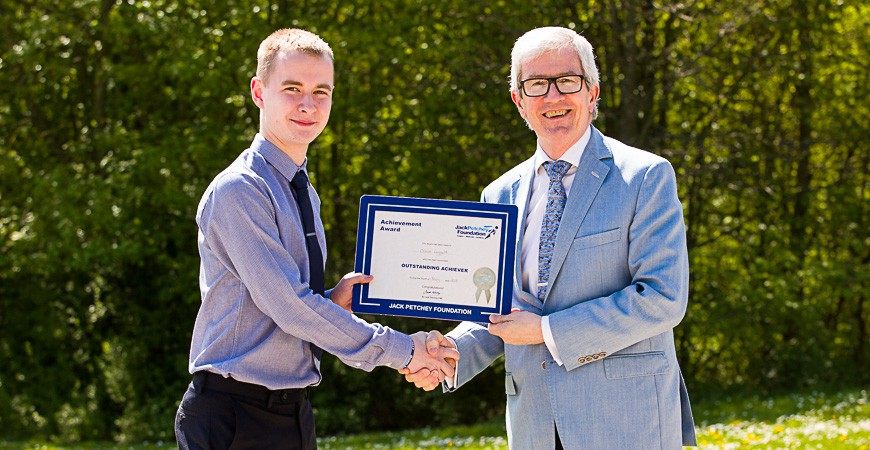Oliver Leggett - Jack Petchey Award Winner May 2018