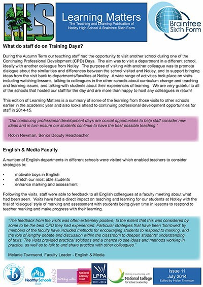 Learning Matters: Issue 11 - July 2014