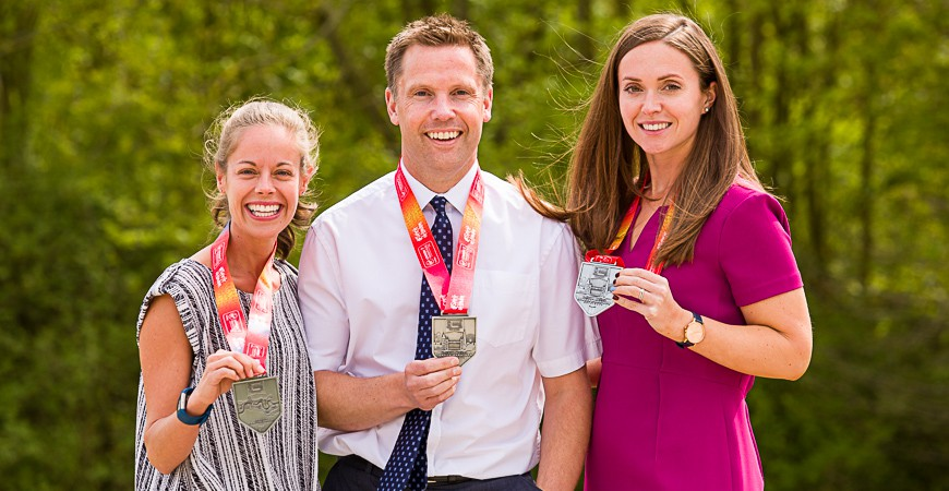 Staff Run London Marathon in Record Temperatures!