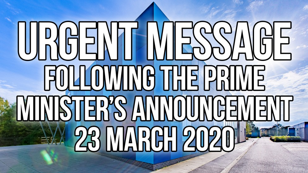Urgent Message to all Parents/Carers: 23 March 2020