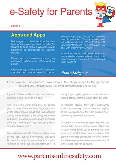 Parents' Online Safety Newletter Edition 5