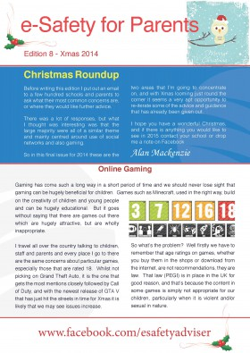 Parents' Online Safety Newletter Edition 8