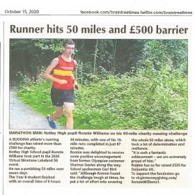 Runner Hits 50 Miles & £500 Barrier
