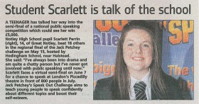 Student Scarlett is Talk of the School