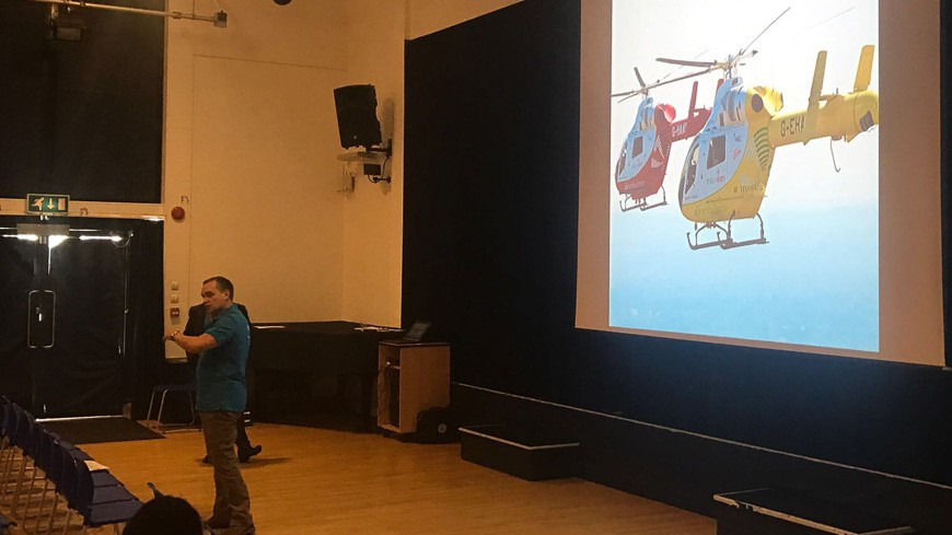 Essex and Herts Air Ambulance visit to Year 12