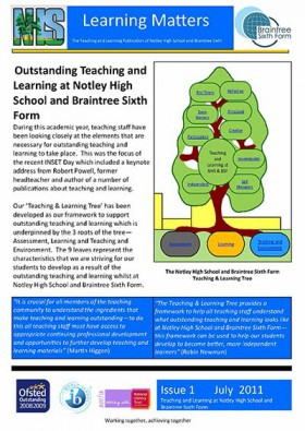 Learning Matters: Issue 1 – July 2011